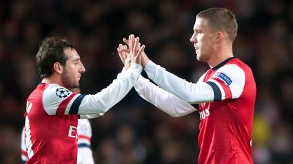 Podolski and Cazorla